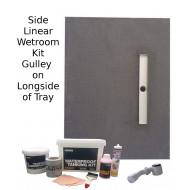 Linear Side Tray & Drain 1500 x 900 Wetroom Kit