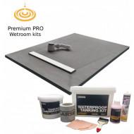 Linear Tray & Drain 1200x900mm Wetroom Kit