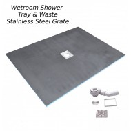 Wetroom Shower tray & Drain 800x800mm