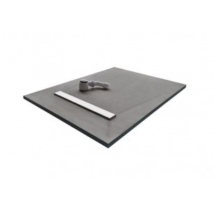 Linear Tray & Drain 900 x 900mm Wetroom Kit